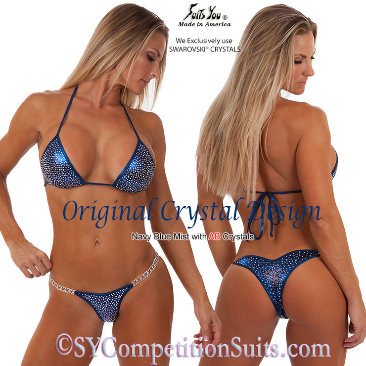 Original Crystal Competition Bikini, navy blue