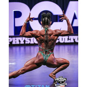 Rachel in here custom PCA Physique Competition Suit