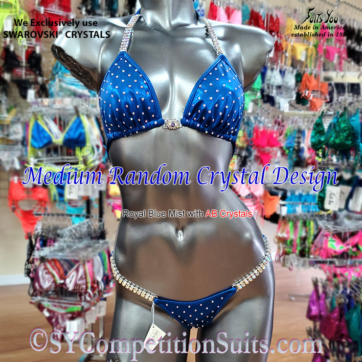 Competition Bikini, Medium Random Crystal Design, SYCS70