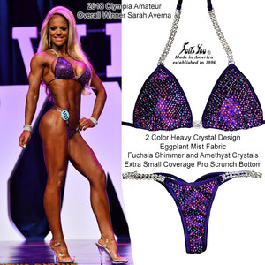 Competition Bikini, Gorgeous 2 Color Heavy Crystal, Sarah Averna