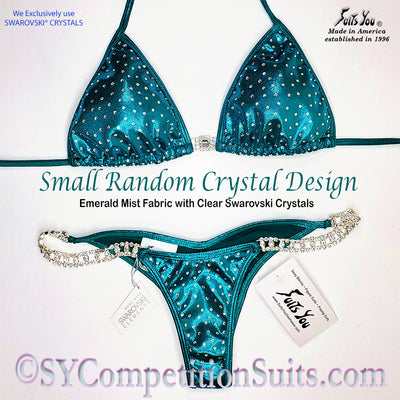 Ready to ship Crystal Competition Bikini with Small Random Crystals