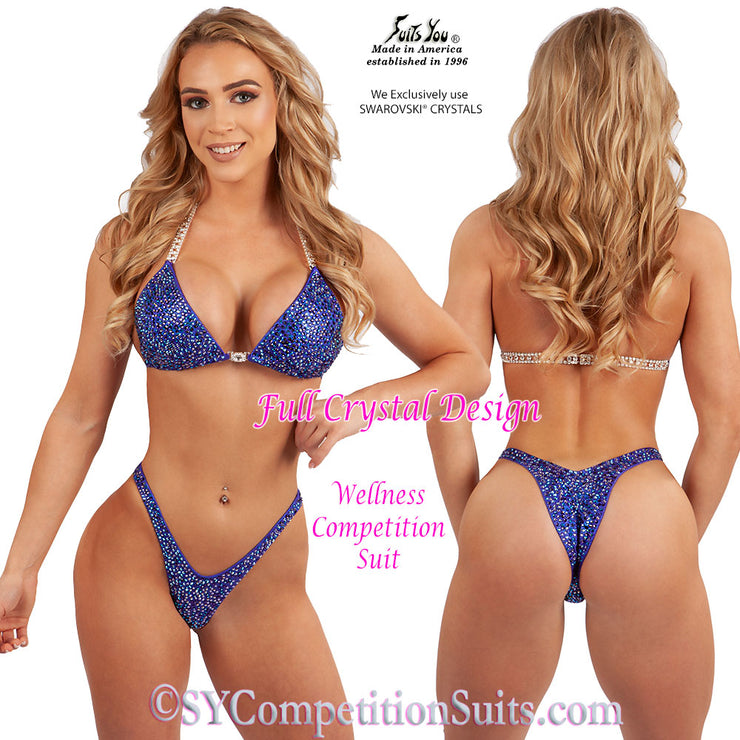 Wellness Competition Suit, Full Crystal Design
