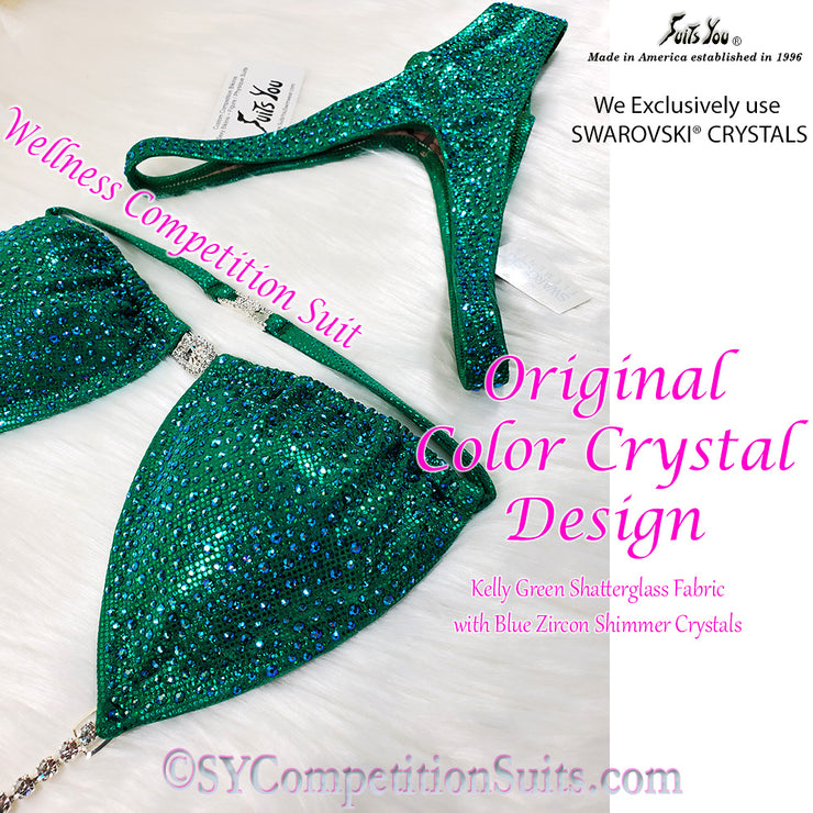 Wellness Competition Suit, Original COLOR Crystal Design