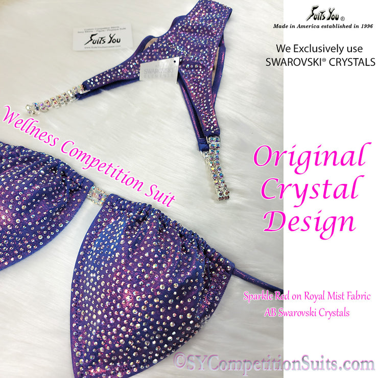 Wellness Competition Suit, AB Swarovski Crystals