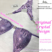 Wellness Competition Suit, Original Crystal Design, AB Swarovski Crystals