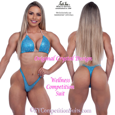 Wellness Competition Suit, Original Crystal Design