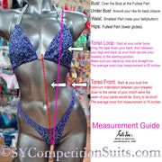 Wellness Competition Suit measurement guide