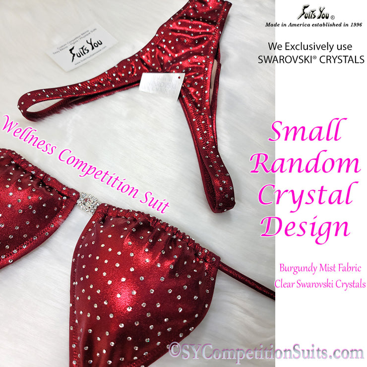 Wellness Competition Suit, small random Swarovski Crystals