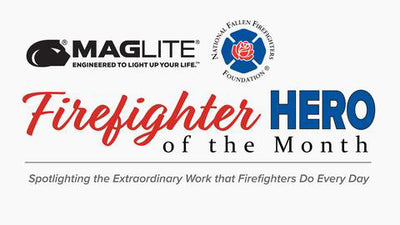 National Fallen Firefighters Foundation and Maglite honor Chief Thomas C. Mills of the North Beach Volunteer Fire Department with Firefighter Hero Award