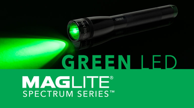 THE MAGLITE® SPECTRUM SERIES™ GREEN LED FLASHLIGHTS