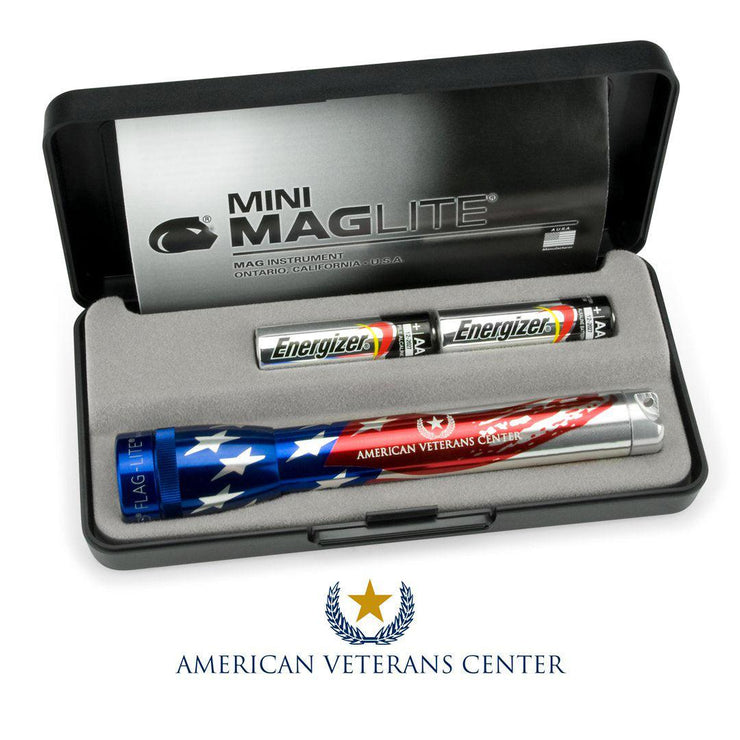 Mini Maglite 2-Cell AA American Veterans Center