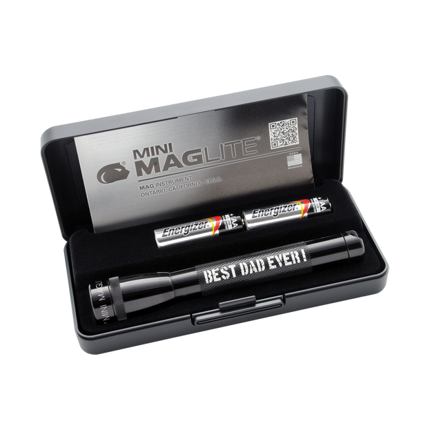 Mini Maglite Xenon 2AA - Best Dad Ever - Black