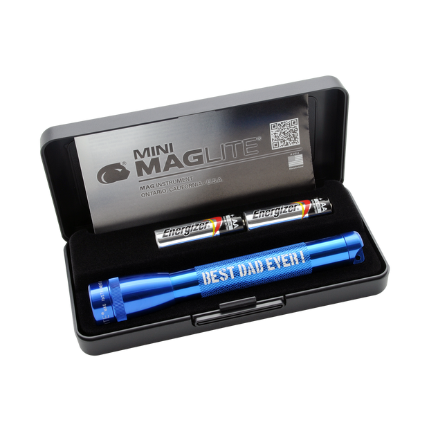 Mini Maglite Xenon 2AA - Best Dad Ever - Blue