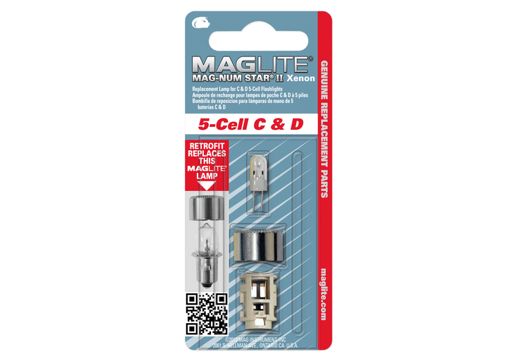 Replacement Lamp-Bulb for Maglite 5-Cell C & D Flashlight
