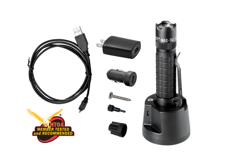 MAG-TAC LED Rechargeable Flashlight System Crowned Bezel