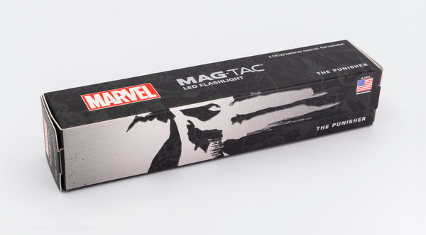 Marvel - Punisher MAG-TAC CR123 LED Flashlight Crowned Bezel