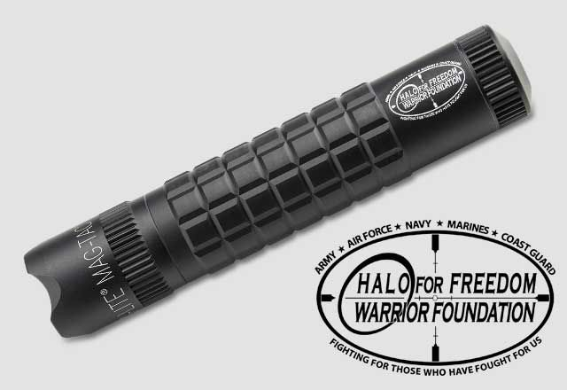 MAG-TAC 2-Cell CR123 LED Flashlight Crowned Bezel - Halo