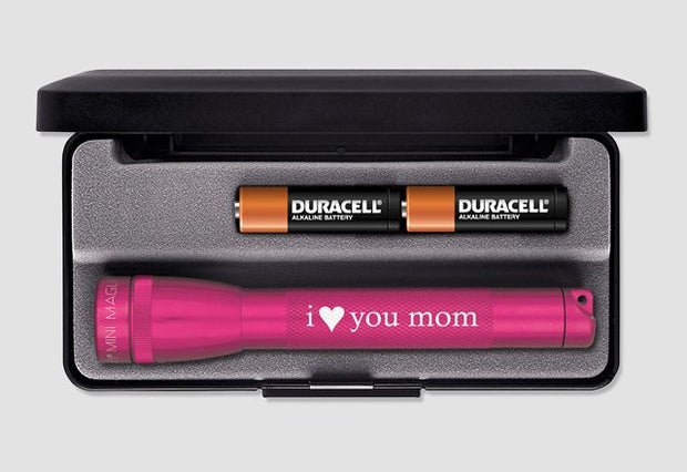 Mini Maglite Flashlight I Love You Mom V2 - Xenon