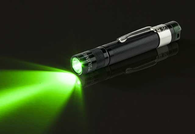 Maglite Solitaire LED Spectrum Series Green