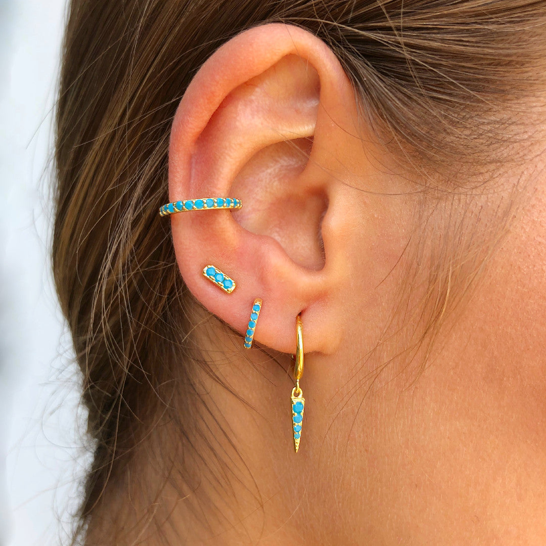 PENDIENTES THEA TURQUOISE GOLD