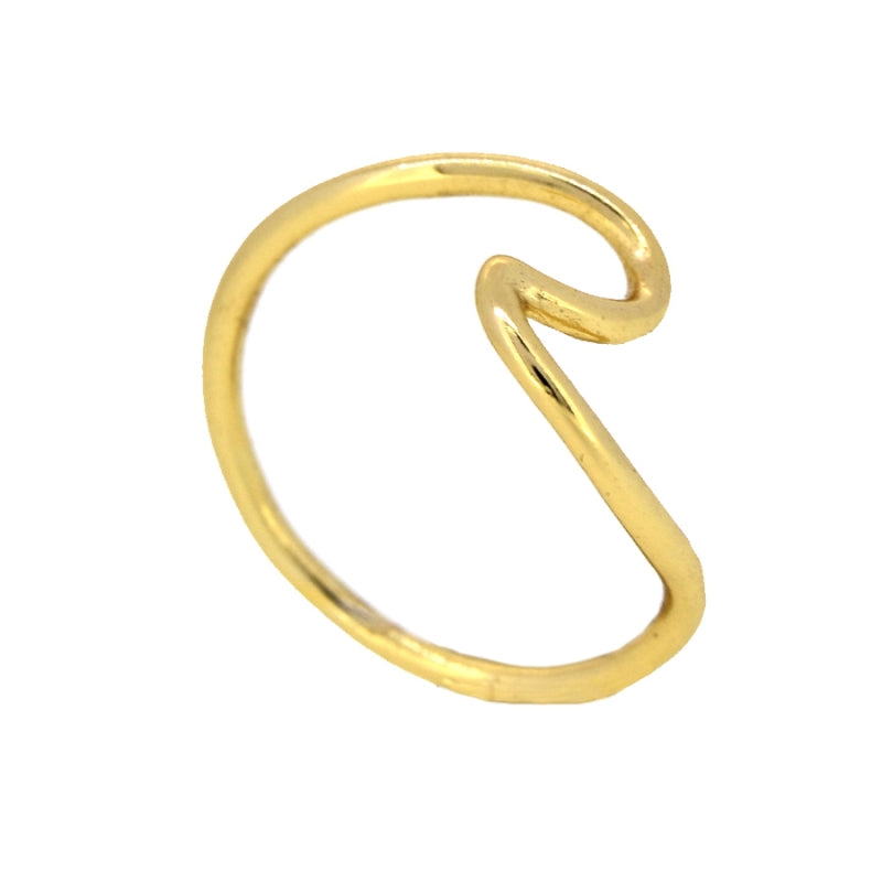 ANILLO WAVE GOLD