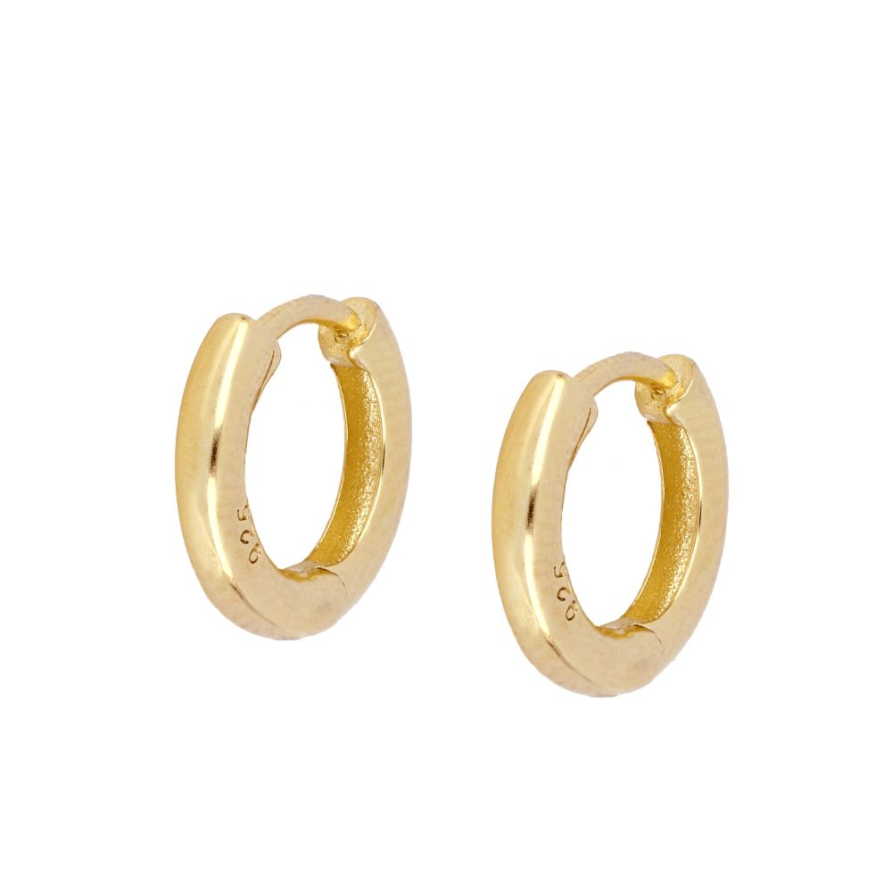 PENDIENTES BASIC GROSS HOOP GOLD