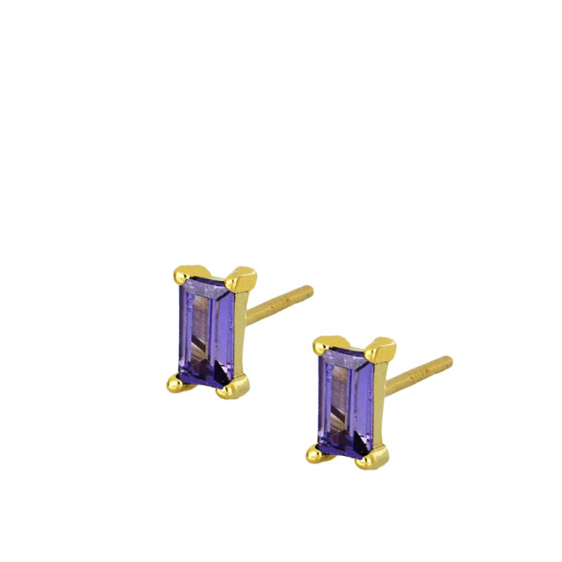 PENDIENTES MINI REYA PURPLE GOLD
