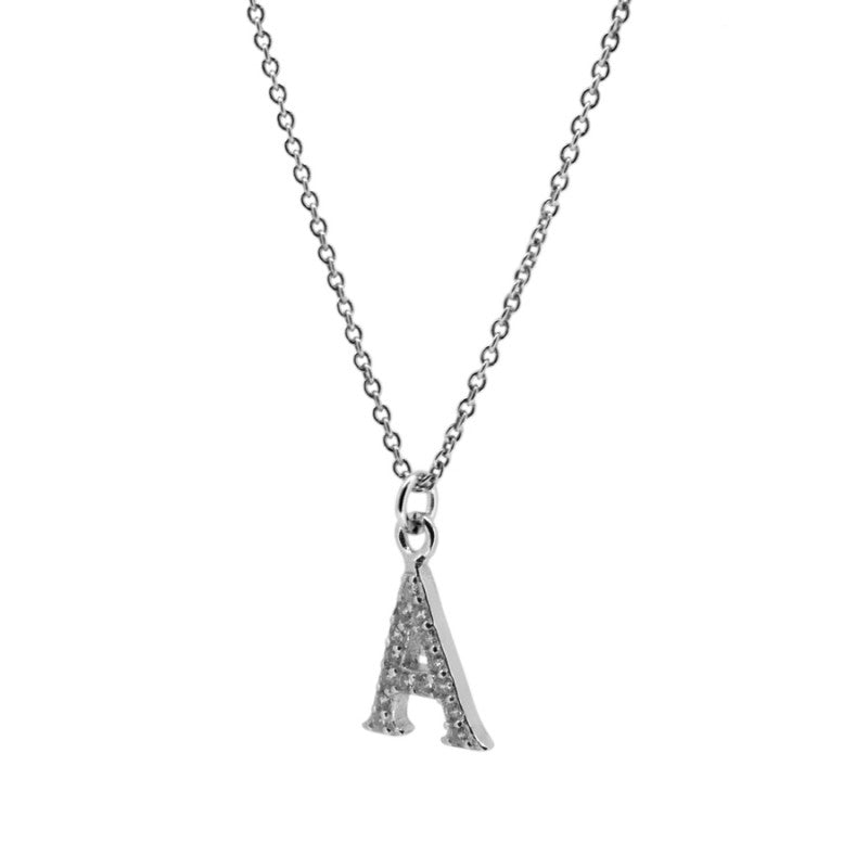 COLLAR SHINY LETTER SILVER
