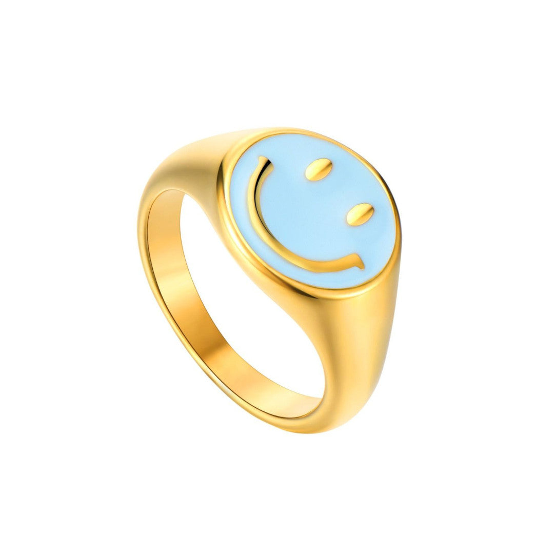 ANILLO SMILEY TURQUOISE GOLD