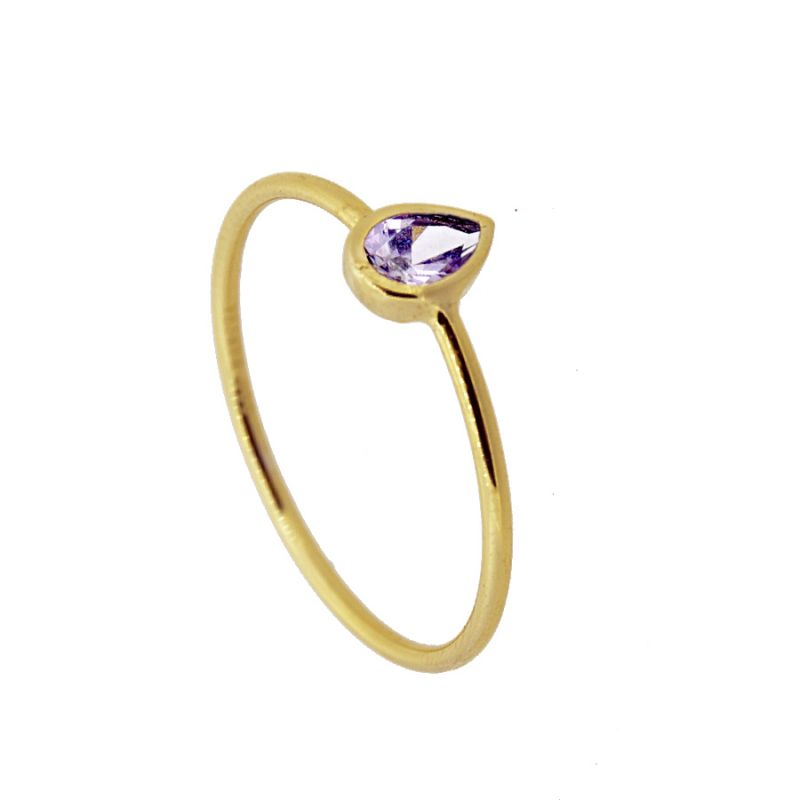ANILLO TEARY PURPLE GOLD