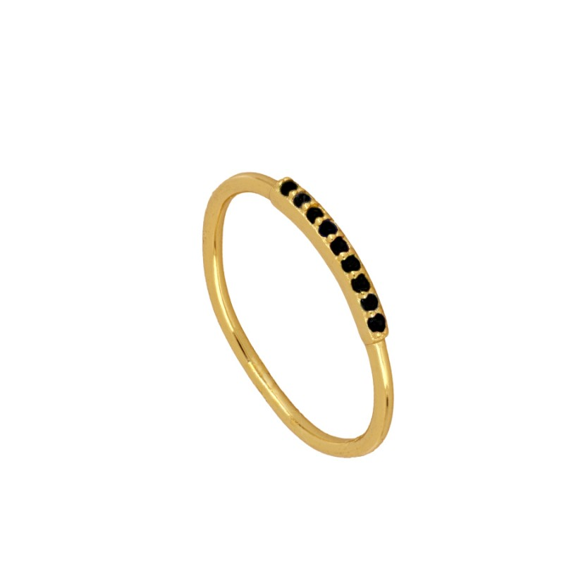 ANILLO TINY BLACK GOLD