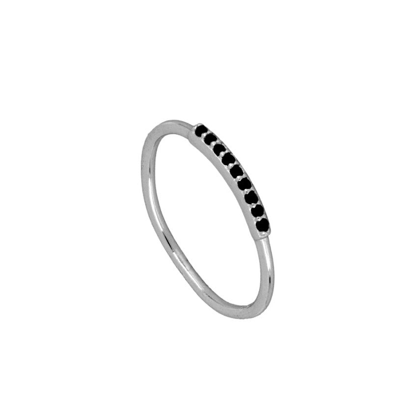 ANILLO TINY BLACK SILVER