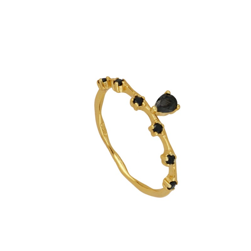 ANILLO VADA BLACK GOLD