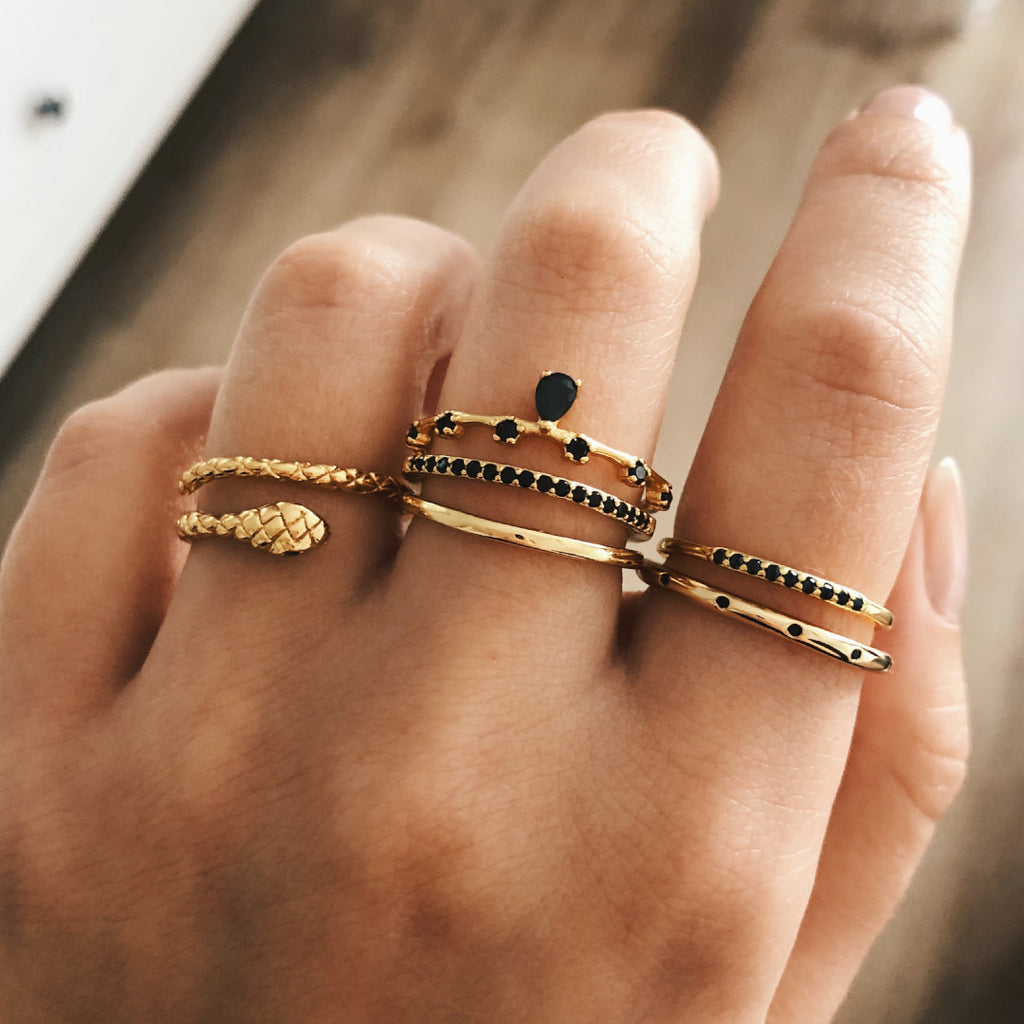 ANILLO YARE BLACK GOLD