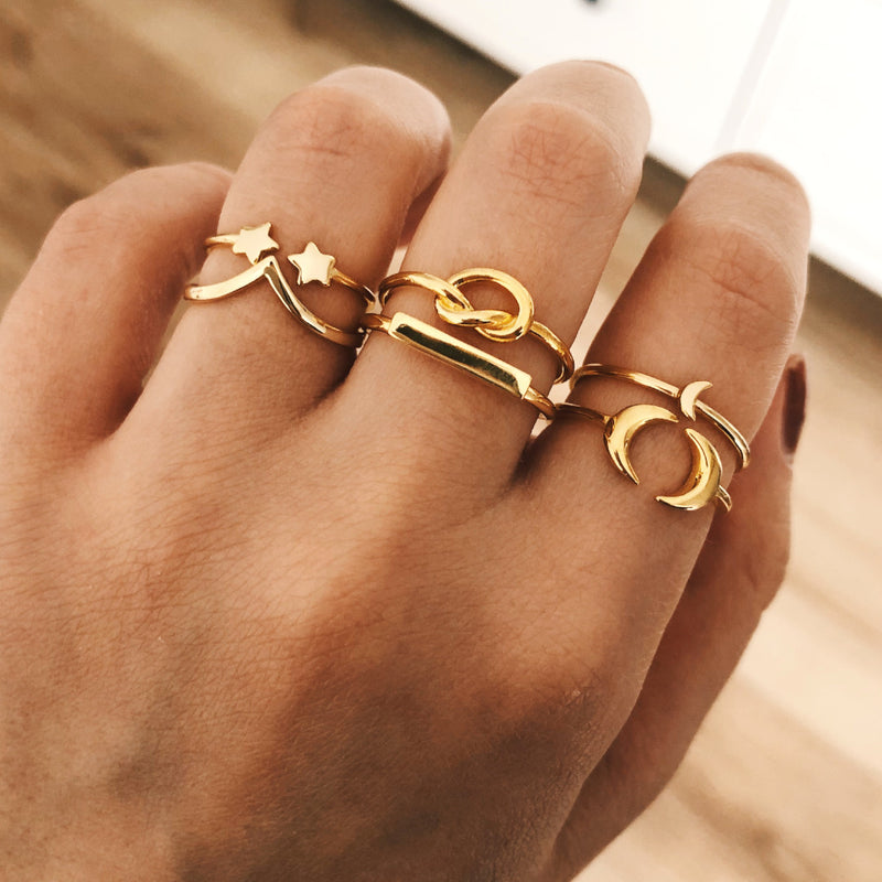 ANILLO TWIN STARS GOLD