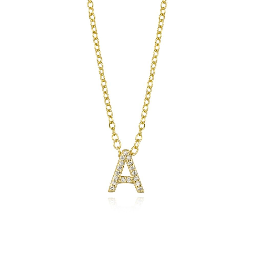COLLAR BRIGHT LETTER GOLD