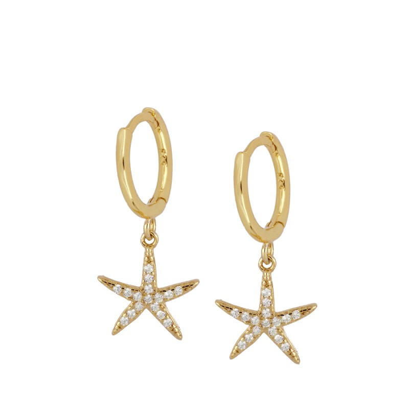 PENDIENTES BRIGHT STARFISH GOLD