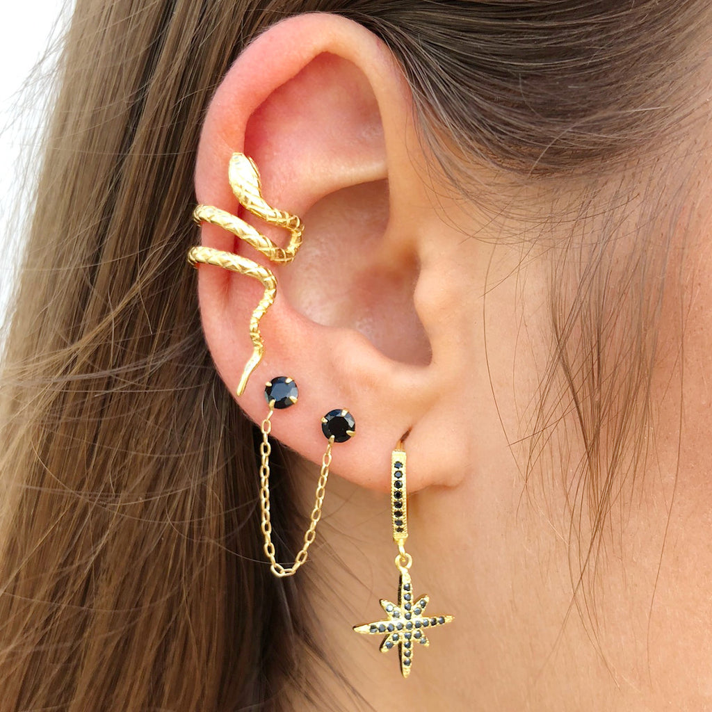 EARCUFF BIG SNAKE GOLD