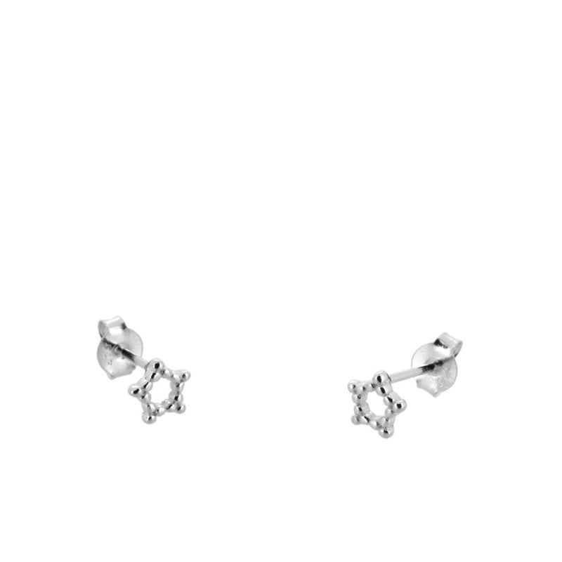 PENDIENTES DOTTED STAR SILVER