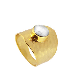 ANILLO MINERVA WHITE GOLD