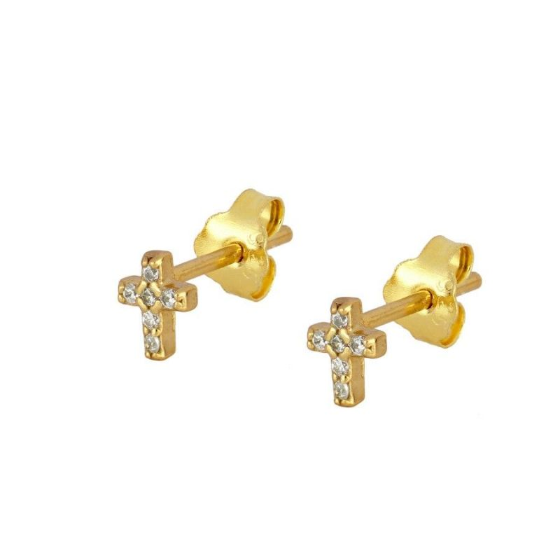 PENDIENTES MINI BRIGHT CROSS GOLD