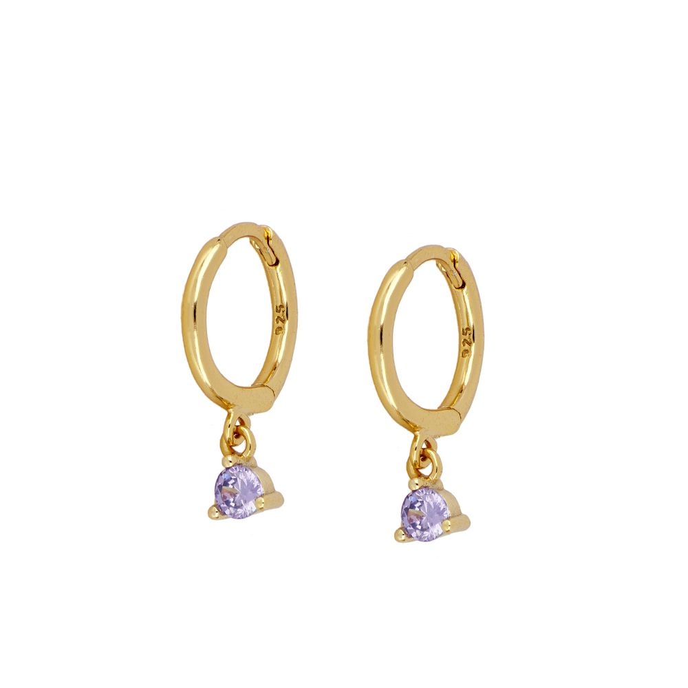 PENDIENTES NAMESIS PURPLE GOLD