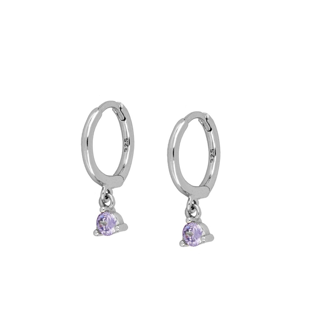 PENDIENTES NAMESIS PURPLE SILVER