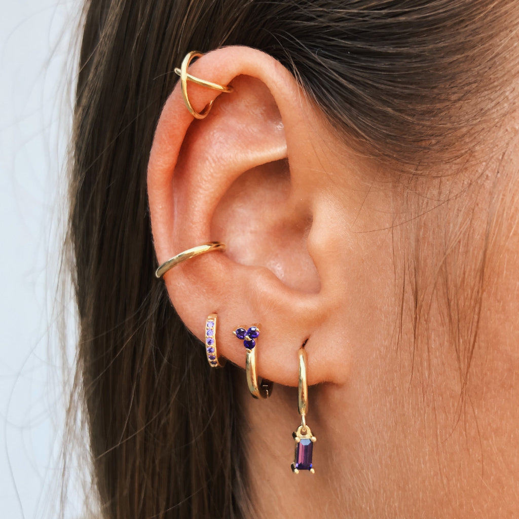 PENDIENTES LAURETTE PURPLE GOLD