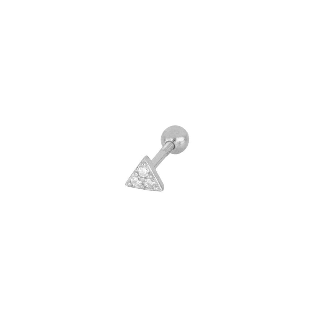 PIERCING BRIGHT PYRAMID SILVER