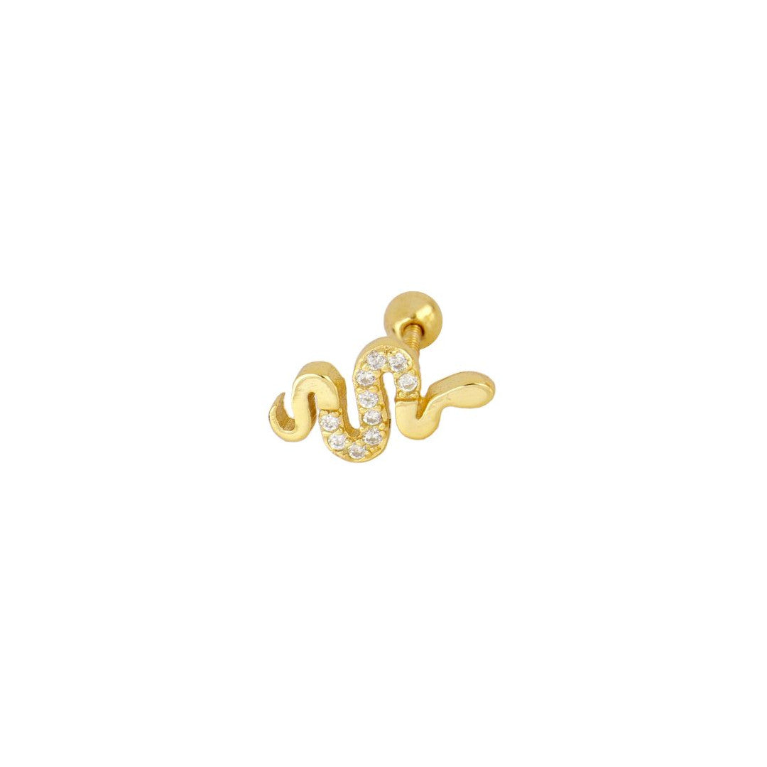 PIERCING MINI BRIGHT SNAKE GOLD