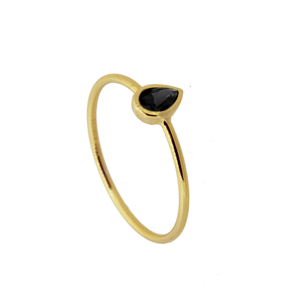 ANILLO TEARY BLACK GOLD