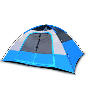5 Person Camping Tent, Red/Gray or Blue/Gray