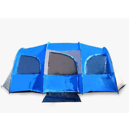 10 Person Tent for Camping, Red or Blue