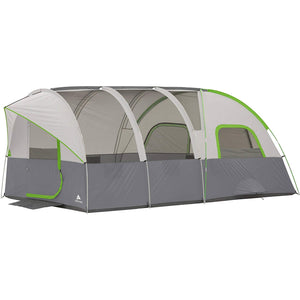 Modified Dome Tunnel Tent 16' x 8' ,With Unique Shape Creates Separate Living,Sleeping and Storage Spaces,Large Mesh Panels,Sleeps 8 >>